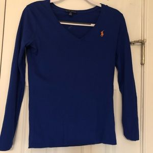 Polo V-Neck Long Sleeve